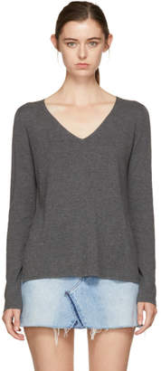 Alexander Wang Grey V-Neck Sweater