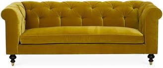 One Kings Lane Dexter Tufted Sofa - Citrine Velvet