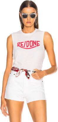 RE/DONE Muscle Tank Red Triumph Logo