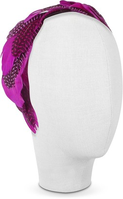 Nana Nana' Antonella - Fuchsia Polkadot Feather Headband