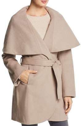T Tahari Marla Oversized Shawl Collar Coat