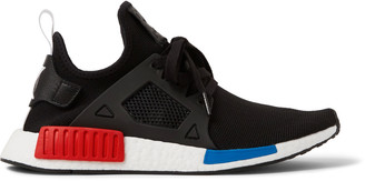 adidas Originals NMD XR1 Rubber-Trimmed Primeknit Sneakers $150 thestylecure.com
