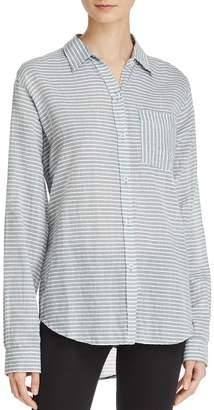 Current/Elliott The Boyfriend Striped Shirt