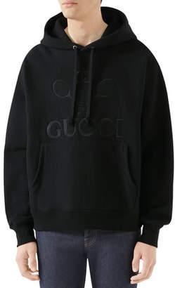 d7a39f54151 Gucci Men s Logo-Front Hooded Sweatshirt