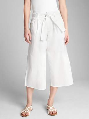 Gap Wearlight Crop Tie-Waist Wide-Leg Chinos