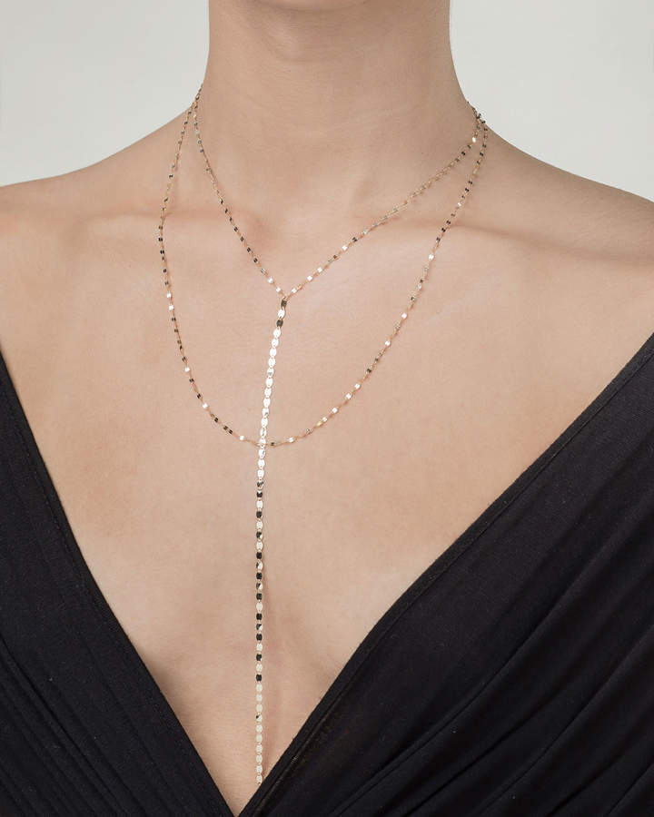 Lana Nude Blake Chain Drop Necklace