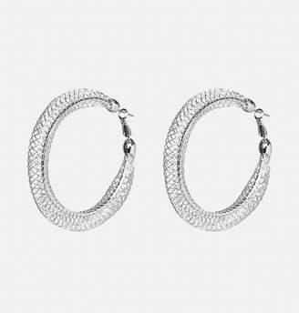 Avenue Wire Puff Hoop Earrings