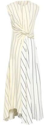 3.1 Phillip Lim Twist-front Striped Poplin Maxi Dress