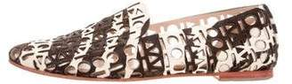 Loeffler Randall Ponyhair Round-Toe Loafers