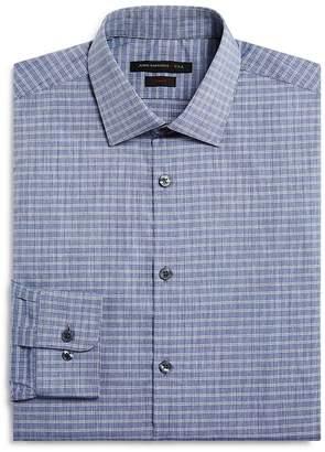 John Varvatos Grid Check Slim Fit Dress Shirt