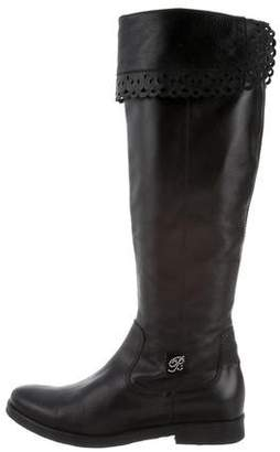 Miss Blumarine Girls' Leather Perforated Boots