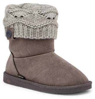 Muk Luks Pattie Faux Fur Lined Boot (Little Kid)