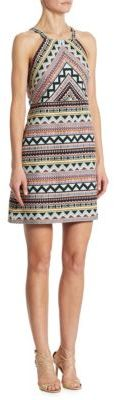 Laundry by Shelli Segal Jacquard Halter Dress $195 thestylecure.com