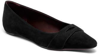 Bougeotte Suede Keeper Ballet Flats, Black