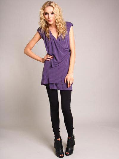 Corey Lynn Calter Purple Sam Wrap Dress
