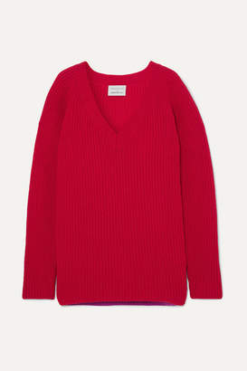 Borgo De Nor - Ribbed Wool Sweater - Red