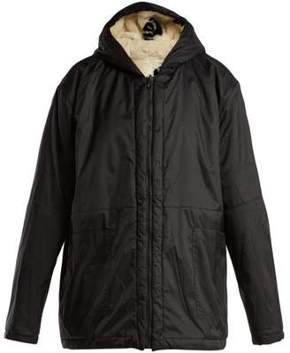 Aries Reversible Water Resistant And Faux Fur Jacket - Womens - Black White