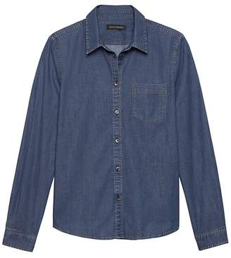 Banana Republic Petite Quinn-Fit Denim Shirt