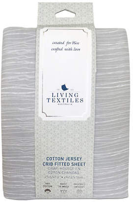 Living Textiles THE Baby's Crinkle Cotton Crib Fitted Sheet