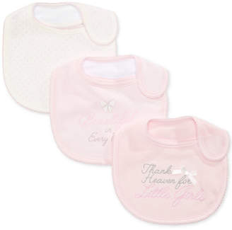 First Impressions Baby Girls 3-Pk. Dots & Bows Bibs, Created for Macy's