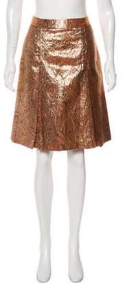Ellen Tracy Brocade Knee-Length Skirt