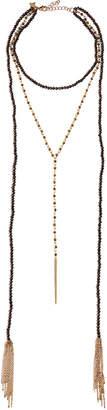 Panacea Long Beaded Y-Drop Wrap Necklace