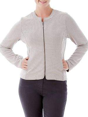 Olsen Collarless Zip Jacket