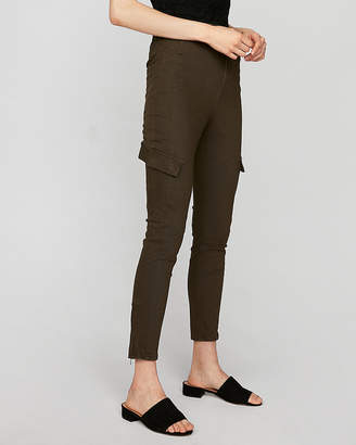Express Super High Waisted Cargo Ankle Pant