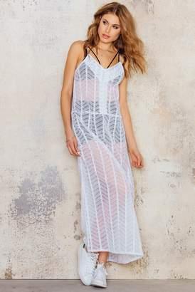 Na Kd Boho Maxi Embroidery Dress White