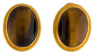 Yossi Harari 24K Tiger's Eye Earrings