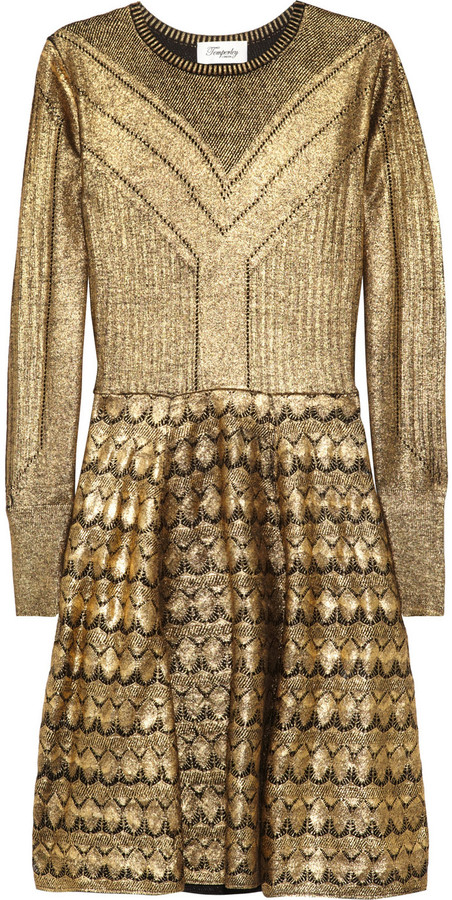 Temperley London Judith metallic merino wool dress