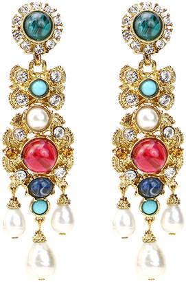 Ben-Amun Ben Amun Byzantine Pearl Embellished Earrings
