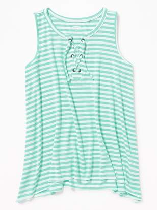 Old Navy Relaxed Striped Lace-Up Tank for Girls