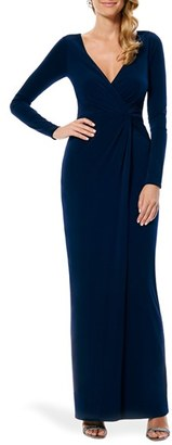 Laundry by Shelli Segal Twist Front Jersey Gown (Nordstrom Exclusive) $245 thestylecure.com