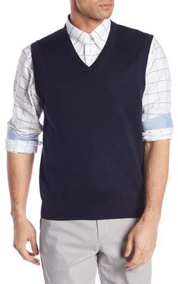 Brooks Brothers V-Neck Solid Knit Vest