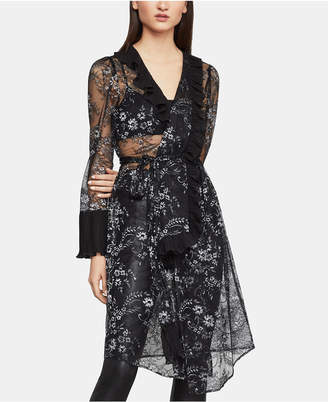 BCBGMAXAZRIA Sheer Floral-Lace Jacket