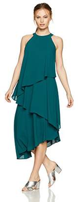 Maggy London Women's Petite Silky Georgette Sleeveless Fly Away Dress