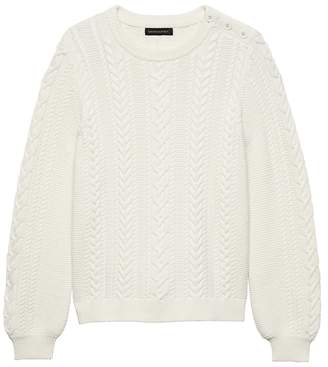 Banana Republic Cotton-Blend Cable-Knit Sweater