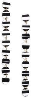 Lele Sadoughi Circle Garland Linear Drop Earrings