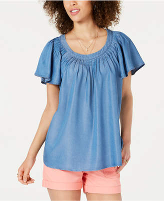 Style&Co. Style & Co Pleated Soft Top