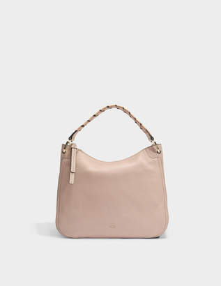 Furla Rialto Large Hobo Bag in Moonstone Calfskin