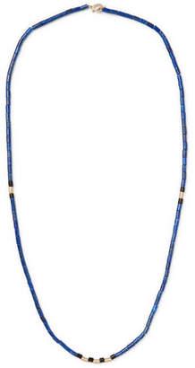 Luis Morais Beaded Wood And 14-Karat Gold Necklace