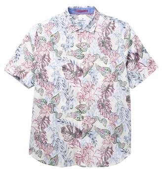 Tommy Bahama Diego Fronds Floral Print Shirt (Big & Tall)