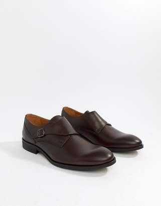 Zign Shoes monk shoes in burgundy leather
