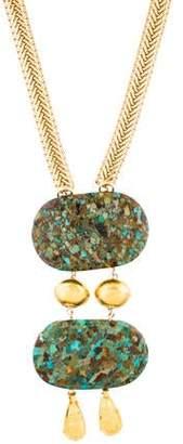 Devon Leigh Mixed Stone Pendant Necklace