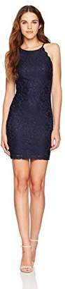 Amy Byer A. Byer Junior's Young Women's Teen Scalloped Edge Lace Sheath Bodycon Dress