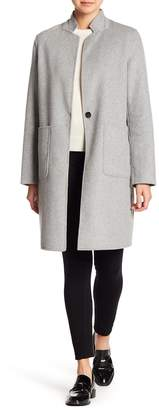 Kenneth Cole New York Wool Blend Stand Collar Coat