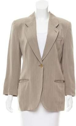 Emporio Armani Wool-Blend Notched-Lapel Blazer