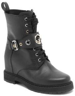 Fendi Leather Combat Boots