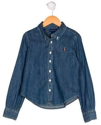 Ralph Lauren Boys' Denim Button-Up Shirt